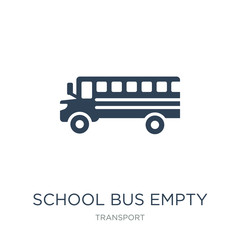 school bus empty icon vector on white background, school bus empty trendy filled icons from Transport collection, school bus empty vector illustration