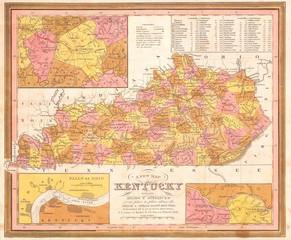 1846, Burroughs, Mitchell Map of Kentucky