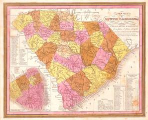1846, Mitchell, Burroughs Map of South Carolina
