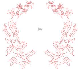 Joy outline continuous line drawing