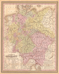 1853, Mitchell Map of Germany