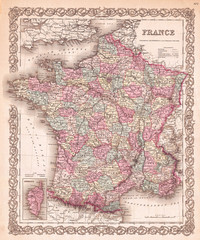 1855, Colton Map of France