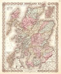 1855, Colton Map of Scotland