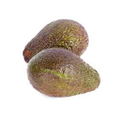 avocado fruits on white background