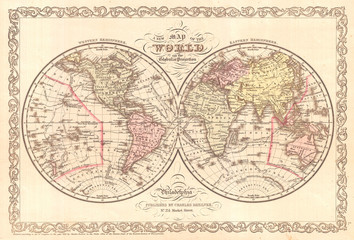 1856, Desilver Map of the World