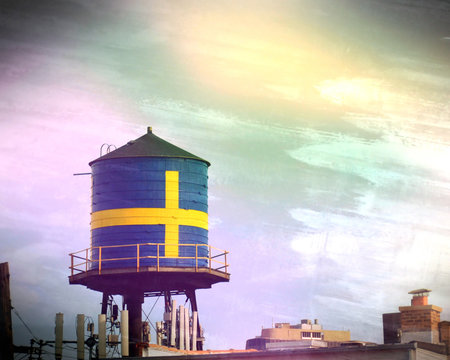 swedish water tower in chicago
