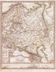 1862, Perthes Map of Russia