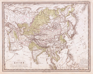 1862, Perthes Physical Map of Asia
