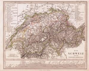 1862, Stieler Map of Switzerland
