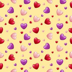 Valentine's Love Seamless Pattern