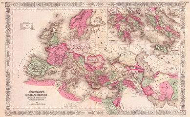 Fototapete - 1864, Johnson Map of the Roman Empire