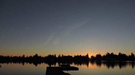 Sunset Reflections on a Lake 02
