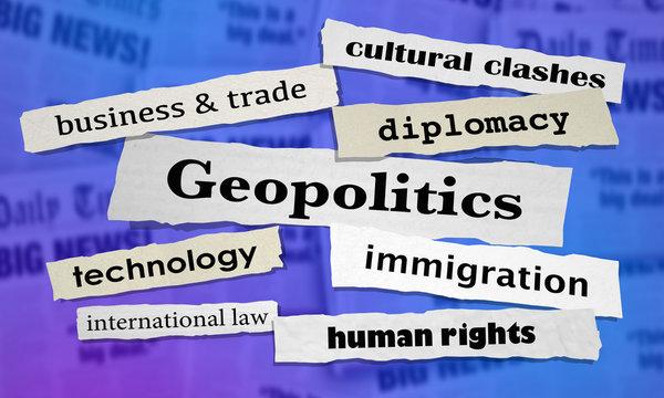 Geopolitics Newspaper Headlines 3d Illustration