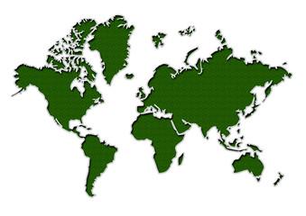 抽象的な世界地図