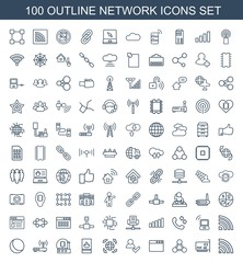 100 network icons