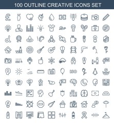 100 creative icons