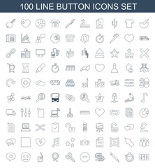 100 button icons