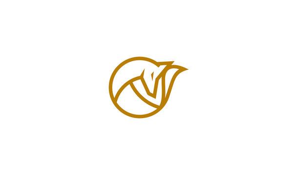 fox line art logo icon vector