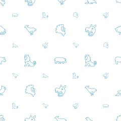 zoo icons pattern seamless white background
