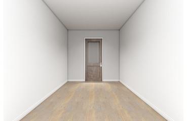 Empty Room And Office Door