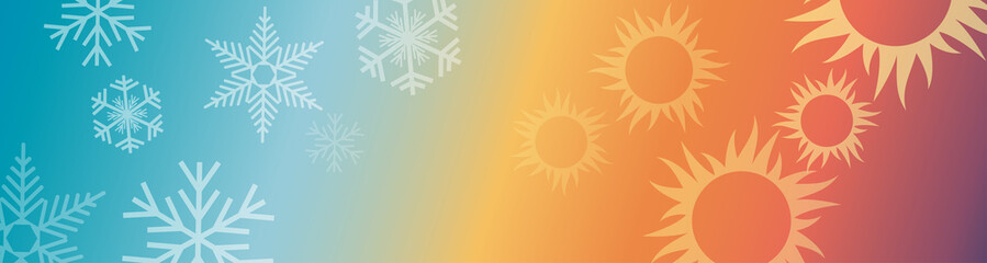 Vector abstract background domestic heating and cooling. Header and banner
