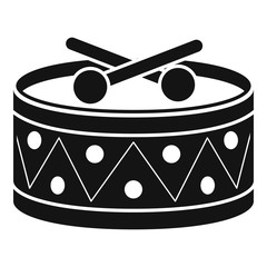 Drums toy icon. Simple illustration of drums toy vector icon for web design isolated on white background