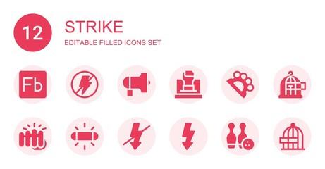 strike icon set