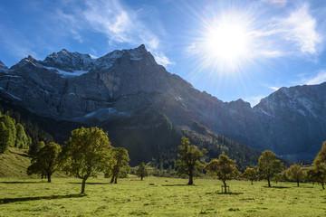 Ahornboden in Österreich