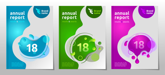 Set of cover design brochure, vector illustration