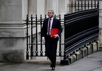 Britain's Secretary of State for Exiting the European Union Stephen Barclay arrives in Downing Street, London
