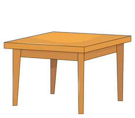 vector, isolated table,