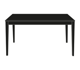 isolated silhouette of the table
