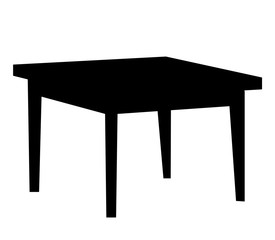 silhouette table, icon