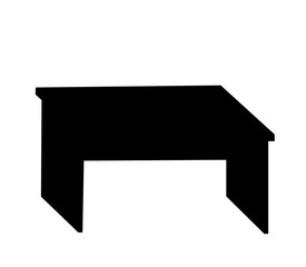 vector, isolated black silhouette table, icon