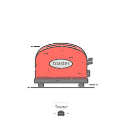 Toaster - Line color icon