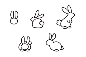 rabbit line art