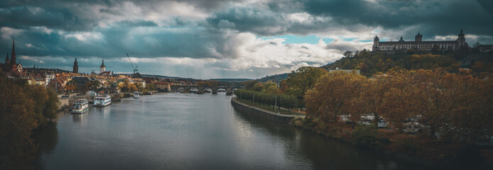 Panorama of Würzburg and the River Main