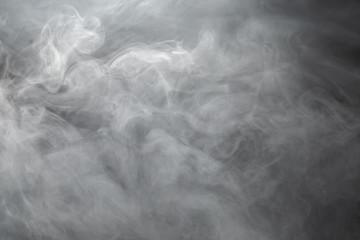dense smoke on black background