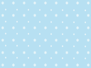 Wonderful blue background design with white snowflakes