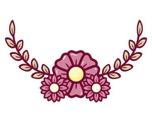 decorative flower leaves
