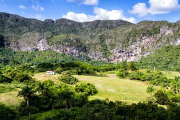 View of Valle de Vinales in the west of Cuba.