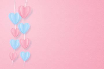 Creative love invitation card Valentine's day concept.