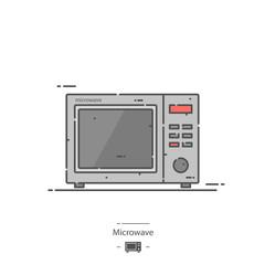 Microwave - Line color icon