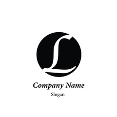 "Modern vector logo of character ""L"""