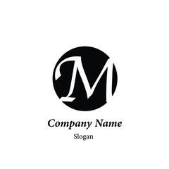 "Modern vector logo of character ""M"""