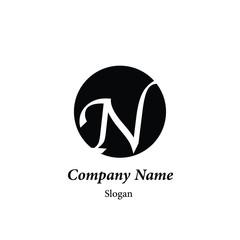 "Modern vector logo of character ""N"""