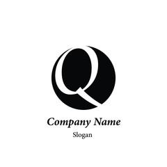 "Modern vector logo of character ""Q"""