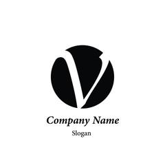"""Modern vector logo of character """"V"""""""