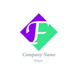 "Modern vector logo of character ""F"""