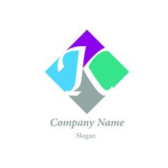 "Modern vector logo of character ""K"""